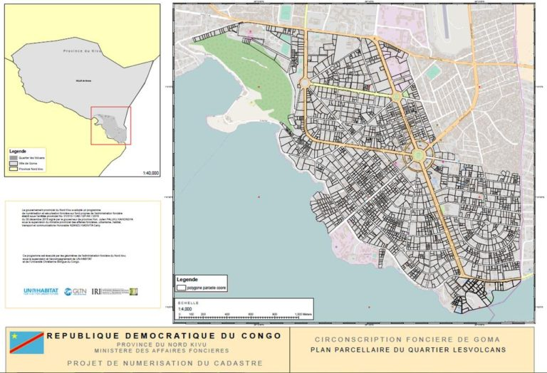 Land Ownership Map – Les Volcans Neighborhood, Goma, North Kivu, DR Congo. Sharing the Land.